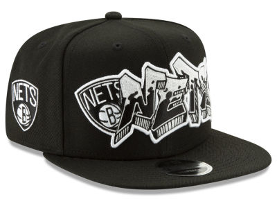 Brooklyn Nets New Era NBA Retroword Black White 9FIFTY Snapback Cap