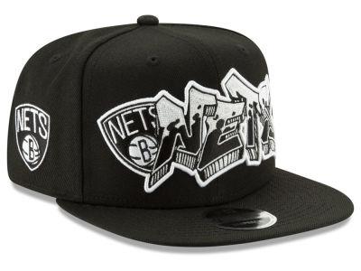 c3b2d51d7518 Brooklyn Nets New Era NBA Retroword Black White 9FIFTY Snapback Cap