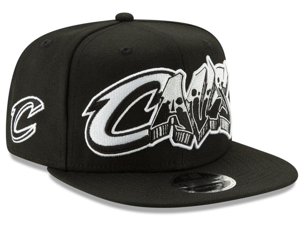 Cleveland Cavaliers New Era NBA Retroword Black White 9FIFTY Snapback Cap  70340fd08c40