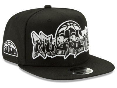 Denver Nuggets New Era NBA Retroword Black White 9FIFTY Snapback Cap