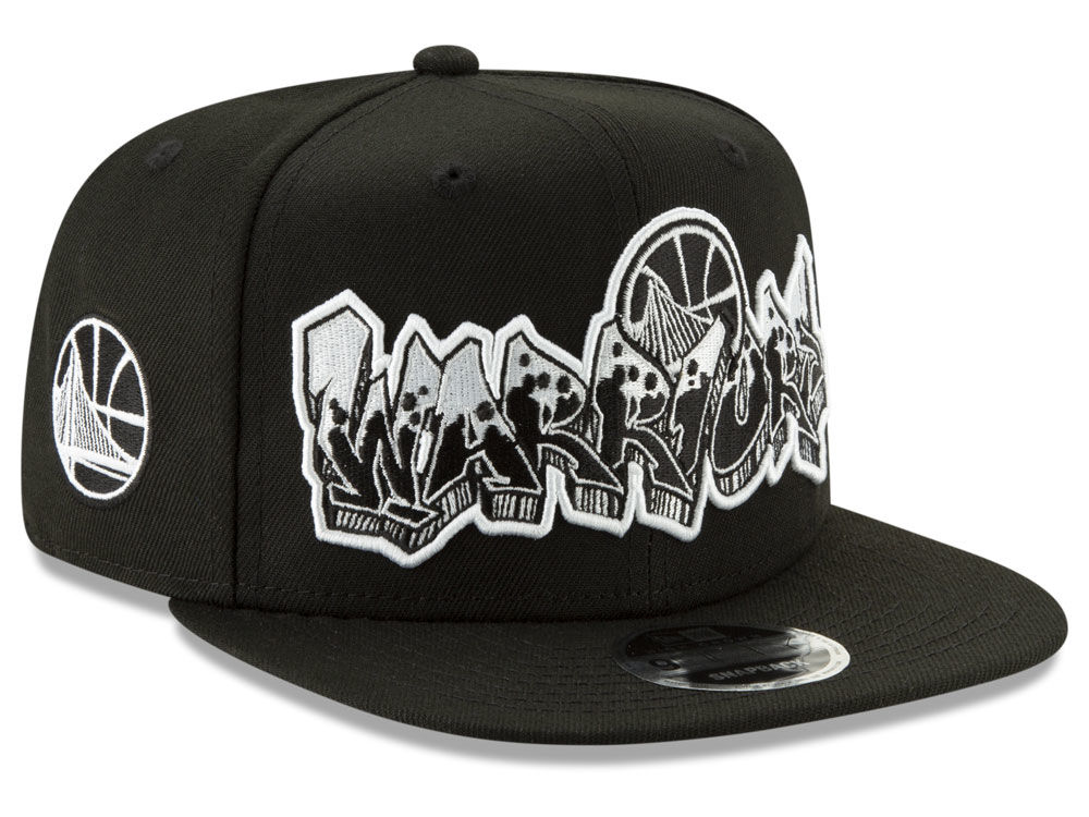 ee0b8bd505c Golden State Warriors New Era NBA Retroword Black White 9FIFTY Snapback Cap