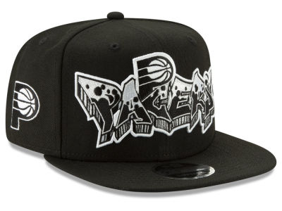 Indiana Pacers New Era NBA Retroword Black White 9FIFTY Snapback Cap