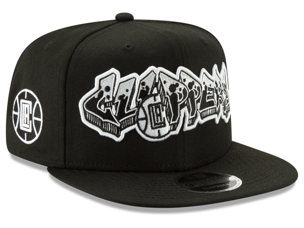8950106d962 Los Angeles Clippers New Era NBA Retroword Black White 9FIFTY Snapback Cap