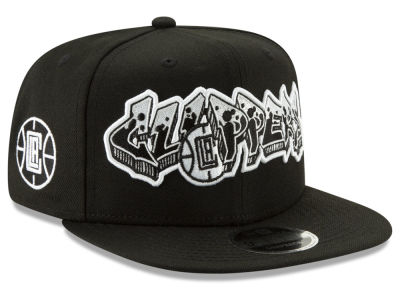 Los Angeles Clippers New Era NBA Retroword Black White 9FIFTY Snapback Cap