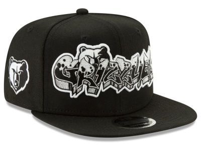 Memphis Grizzlies New Era NBA Retroword Black White 9FIFTY Snapback Cap