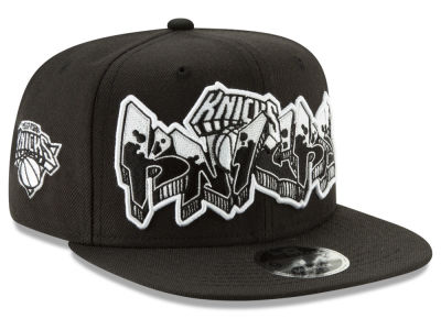 New York Knicks New Era NBA Retroword Black White 9FIFTY Snapback Cap