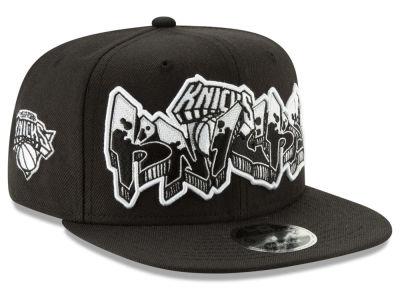 2b1db70896ff New York Knicks New Era NBA Retroword Black White 9FIFTY Snapback Cap