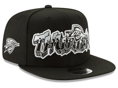 Oklahoma City Thunder New Era NBA Retroword Black White 9FIFTY Snapback Cap