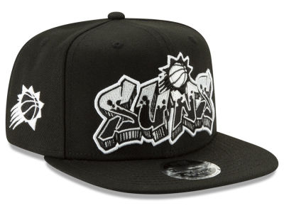 Phoenix Suns New Era NBA Retroword Black White 9FIFTY Snapback Cap