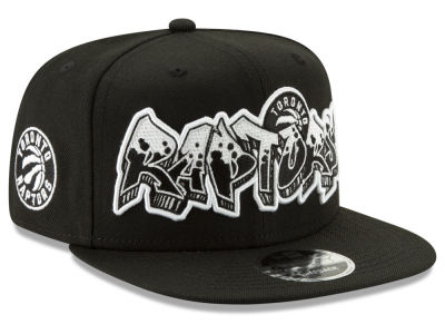 Toronto Raptors New Era NBA Retroword Black White 9FIFTY Snapback Cap