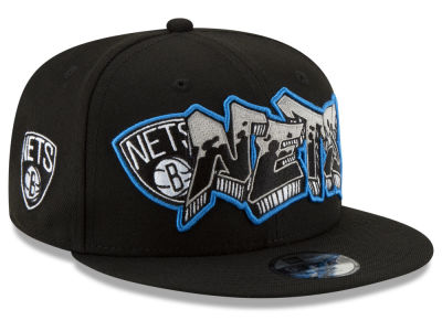Brooklyn Nets New Era NBA Youth Retroword 9FIFTY Snapback Cap