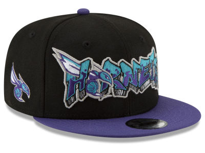 Charlotte Hornets New Era NBA Youth Retroword 9FIFTY Snapback Cap