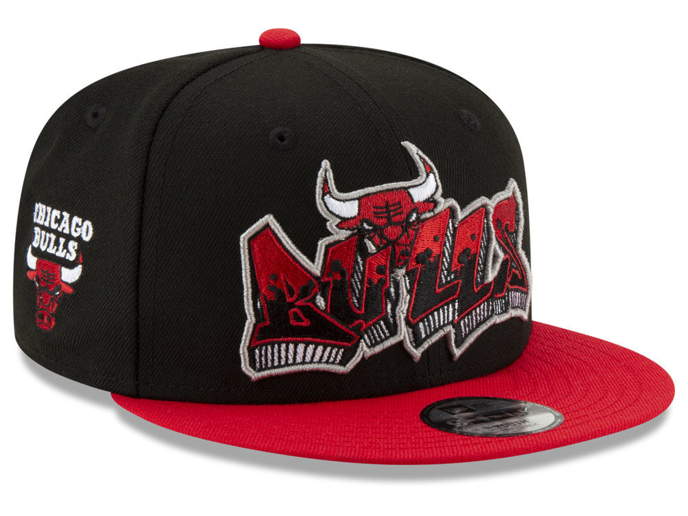 Chicago Bulls New Era NBA Youth Retroword 9FIFTY Snapback Cap  12c66138e6a