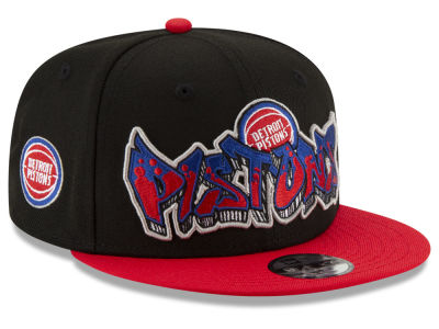 Detroit Pistons New Era NBA Youth Retroword 9FIFTY Snapback Cap