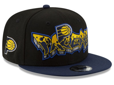 Indiana Pacers New Era NBA Youth Retroword 9FIFTY Snapback Cap