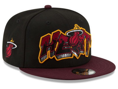 Miami Heat New Era NBA Youth Retroword 9FIFTY Snapback Cap