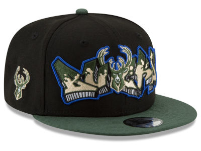 Milwaukee Bucks New Era NBA Youth Retroword 9FIFTY Snapback Cap
