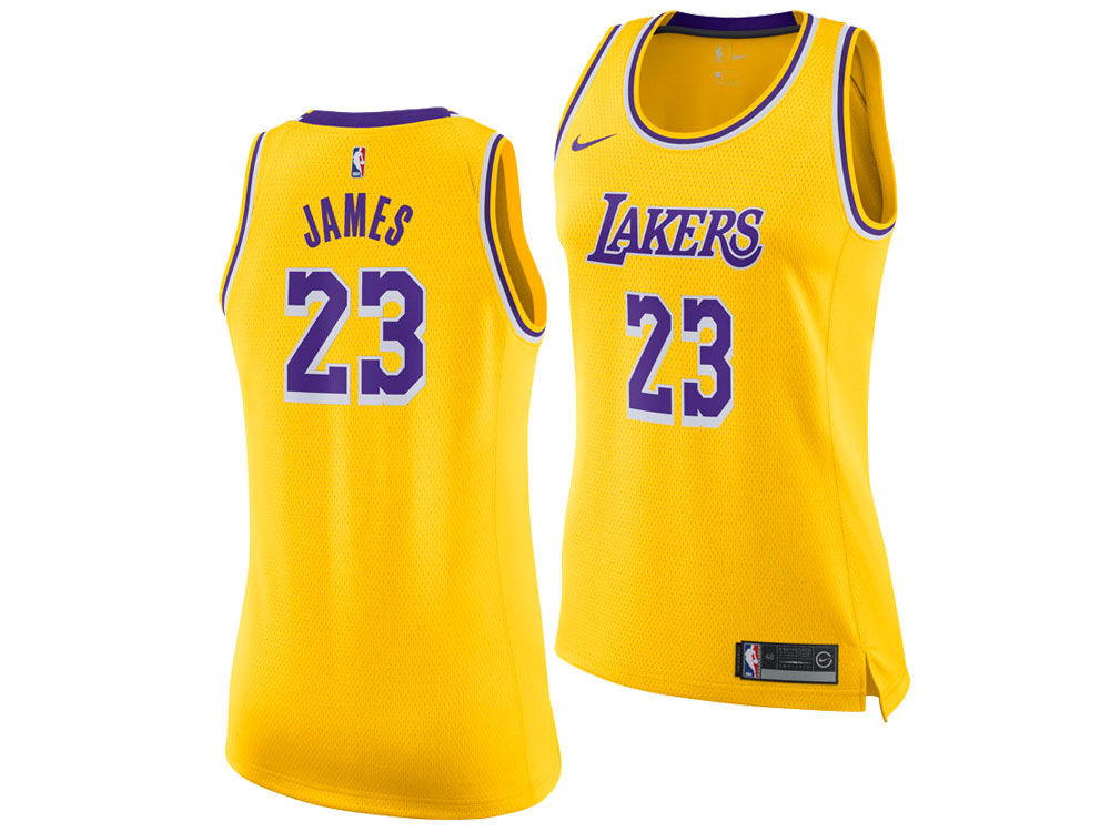 Los Angeles Lakers LeBron James Nike NBA Women s Icon Swingman Jersey  06da141dc6