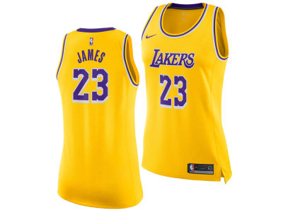 Los Angeles Lakers LeBron James Nike NBA Women s Icon Swingman Jersey 4658b4e611