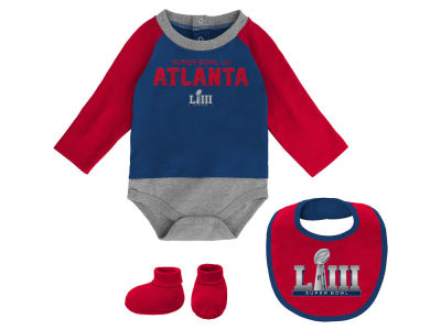 Super Bowl LIII Outerstuff NFL Newborn 3 Piece Set