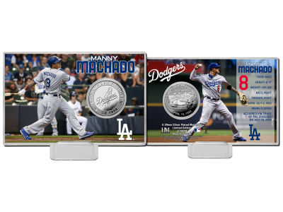 Los Angeles Dodgers Manny Machado Highland Mint Silver Coin Card