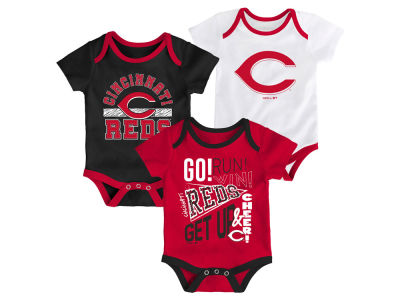 Cincinnati Reds Outerstuff MLB Newborn Newest Rookie 3 Piece Set