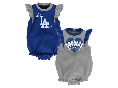 Los Angeles Dodgers Outerstuff MLB Newborn Girls Double Trouble Set