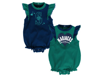 Seattle Mariners Outerstuff MLB Newborn Girls Double Trouble Set