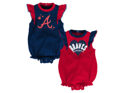 Atlanta Braves Outerstuff MLB Newborn Girls Double Trouble Set