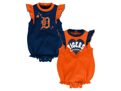 Detroit Tigers Outerstuff MLB Newborn Girls Double Trouble Set