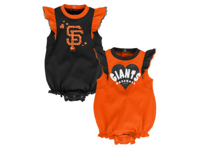 San Francisco Giants Outerstuff MLB Newborn Girls Double Trouble Set