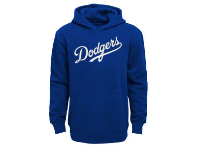 Los Angeles Dodgers Outerstuff MLB Kids Wordmark Pullover Fleece Hoodie