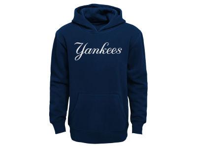 New York Yankees Outerstuff MLB Kids Wordmark Pullover Fleece Hoodie 53a349c9d51