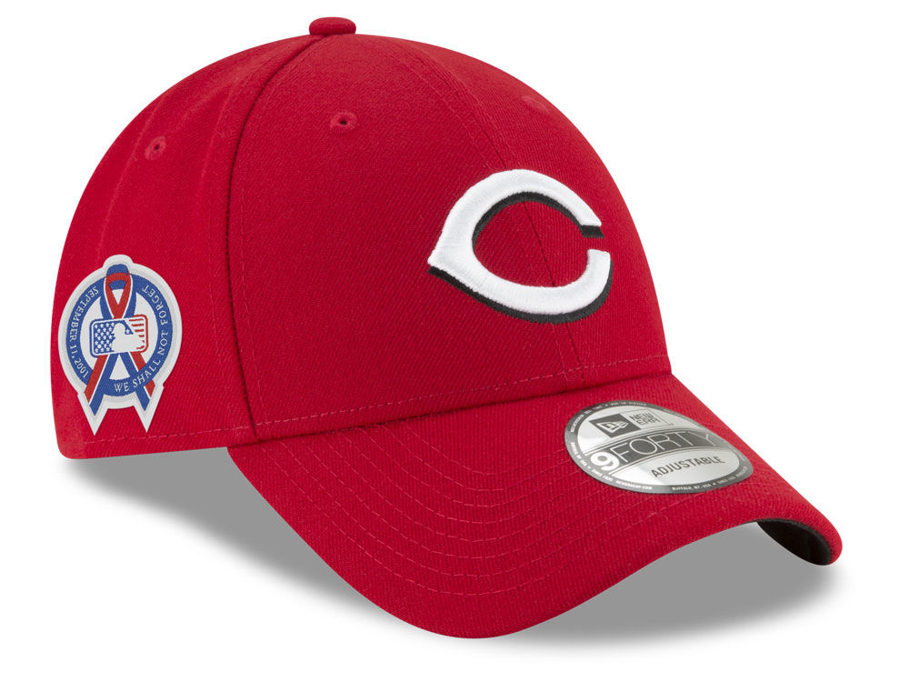 ... real cincinnati reds new era 2018 mlb 9 11 memorial 9forty cap 92fee  cc103 987d201dba8e