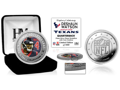 Houston Texans Deshaun Watson  Highland Mint Silver Color Coin