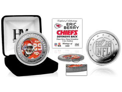Kansas City Chiefs Eric Berry  Highland Mint Silver Color Coin