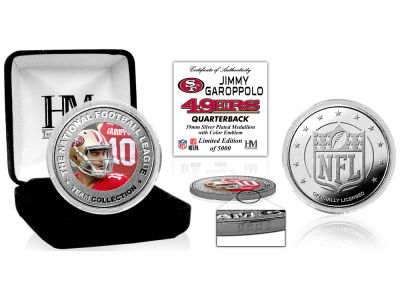 San Francisco 49ers Jimmy Garoppolo  Highland Mint Silver Color Coin