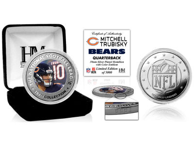 Chicago Bears Mitchell Trubisky Highland Mint Silver Color Coin