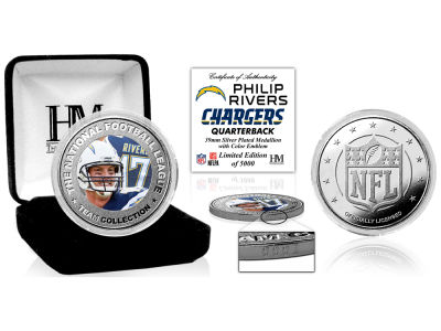 Los Angeles Chargers Philip Rivers Highland Mint Silver Color Coin