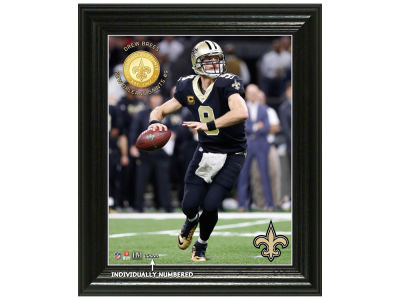 "New Orleans Saints Drew Brees Highland Mint NFL ""Elite Series"" Minted Coin Photo Mint"