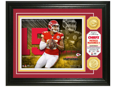 Kansas City Chiefs Pat Mahomes Highland Mint NBA Bronze Coin Photo Mint