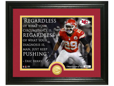 "Kansas City Chiefs Eric Berry  Highland Mint ""Quote"" Silver Coin Photo Mint"