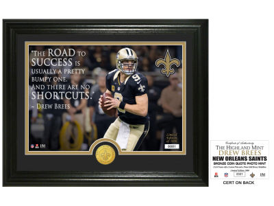 "New Orleans Saints Drew Brees Highland Mint NFL ""Quote"" Bronze Coin Photo Mint"