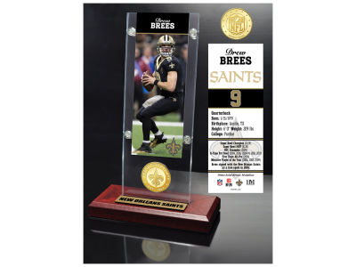 New Orleans Saints Drew Brees Highland Mint Man Cave Panoramic Bronze Coin Photo Mint