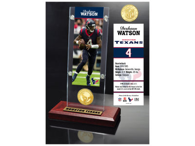 Houston Texans Deshaun Watson  Highland Mint Man Cave Panoramic Bronze Coin Photo Mint