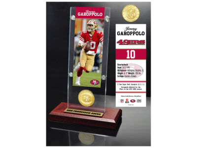 San Francisco 49ers Jimmy Garoppolo  Highland Mint Man Cave Panoramic Bronze Coin Photo Mint