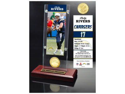 Los Angeles Chargers Philip Rivers Highland Mint Man Cave Panoramic Bronze Coin Photo Mint