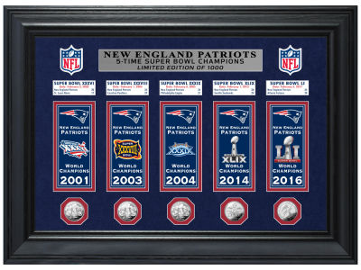 New England Patriots Highland Mint NFL Champions Deluxe Banner Collection Photo Mint