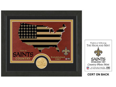 New Orleans Saints Highland Mint Country Bronze Coin Photo Mint
