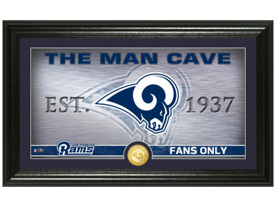 Los Angeles Rams Highland Mint Man Cave Panoramic Bronze Coin Photo Mint